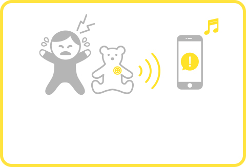Crying detector Chappet will notify you through your smartphone when it detects a crying baby or other sounds.